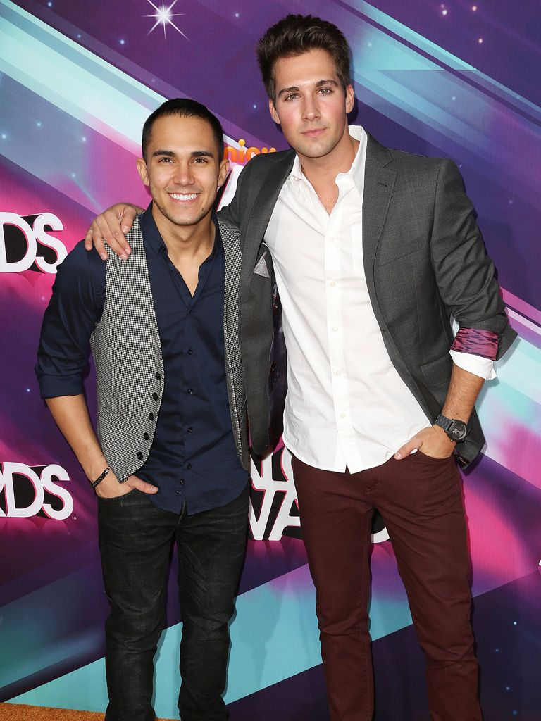 Big Time Rush|Carlos Pena and James Maslow repped BTR in their super stylish threads!
