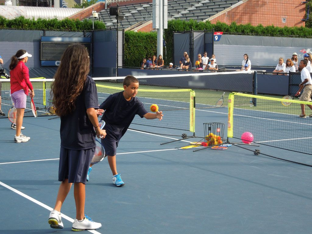 All-Age Play|The event included a 10 and Under Tennis area, so everyone could enjoy this awesome sport.