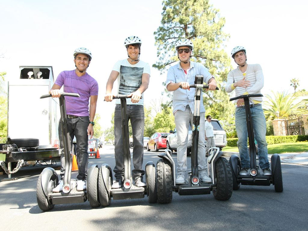 Segway Segue|The BTR boys clearly like to travel in style!