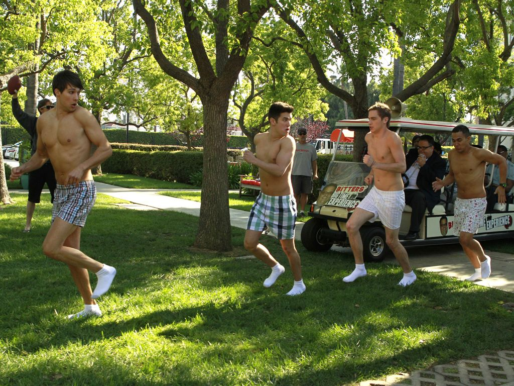 Big Time RUSH|These guys are such celebrities, they don't even have time to put on pants!