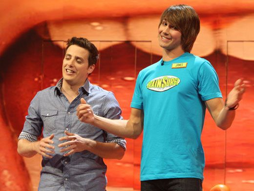Big Time Big Headed|BTR brainiac James Maslow has had so much Surge success, that his brain might be increasing in size a little too much. It looks like the only solution for his IQ ego is a serious Surge sliming.