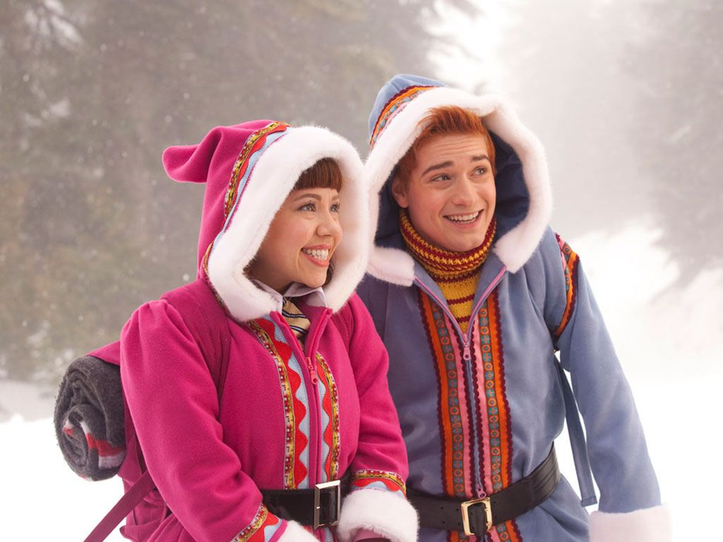 BRRRinging the Heat|Backpack? Check! Matching warm fuzzy jackets? Check! These elves are in style and fully prepared for this North Pole adventure.