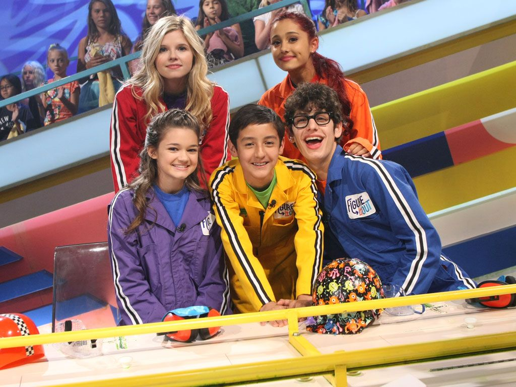 All Aboard!|Ana Mulvoy Ten, Ariana Grande, Ciara Bravo and Matt Bennett are bringing it in for a squeaky clean photo alongside a very lucky kid panelist!