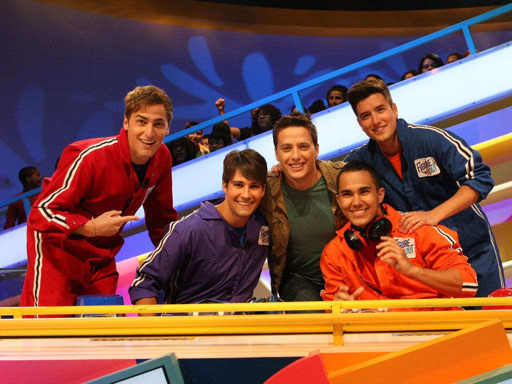 Big Time Photo|Our Big Time Rush panel poses with Jeff before they get down and dirty with slime!