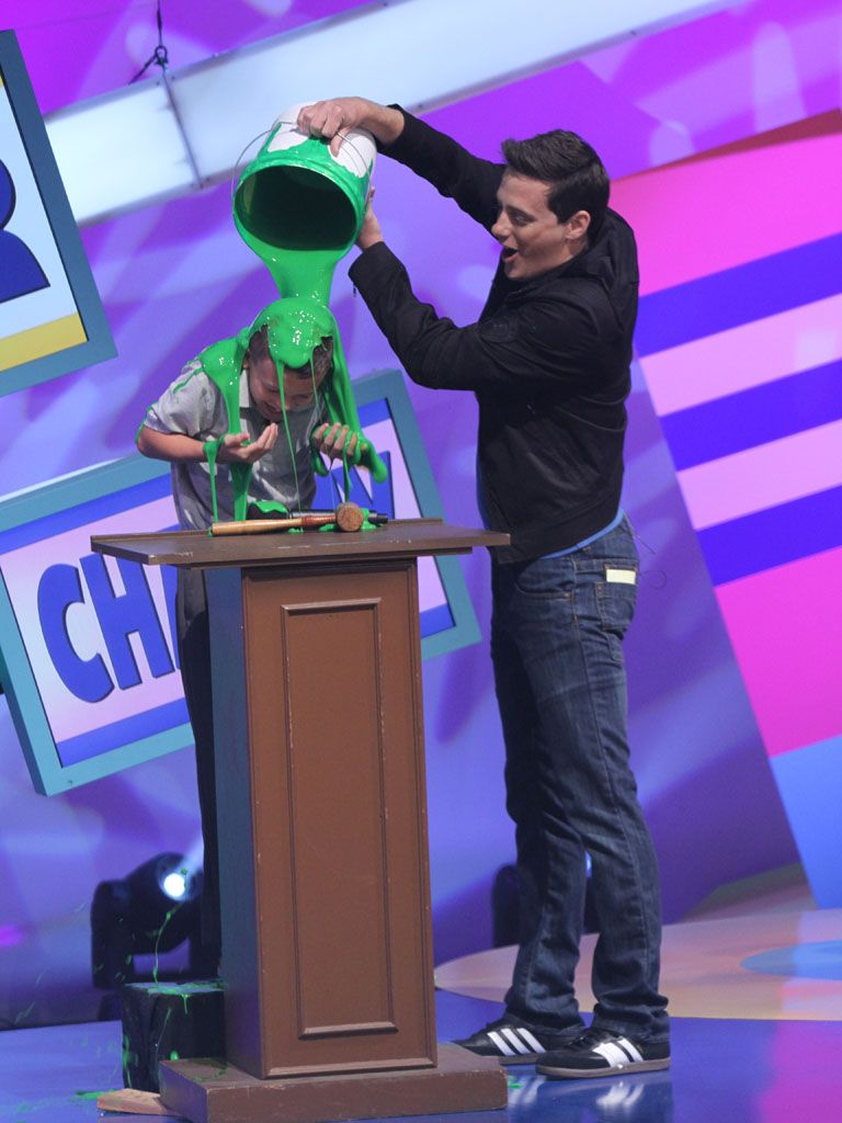 Slimed by Jeff!|Our contestant gets slimed personally by Jeff Sutphen!