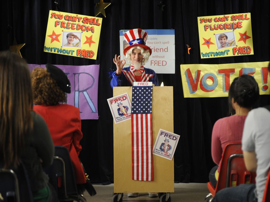 Uncle Fred|Fred wants YOU to vote for him, and in that crazy outfit, we're too scared to say no.