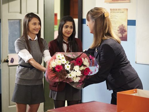 Sweet Students|Joy and Mara give Mrs. Andrews a beautiful bouquet of flowers. Does this mean she's no longer evil?
