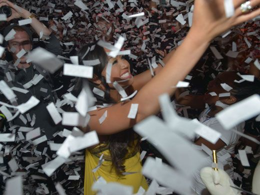 Confetti Queen|Confetti burst into the air just in time to wish sweet sixteenie Cymphonique a