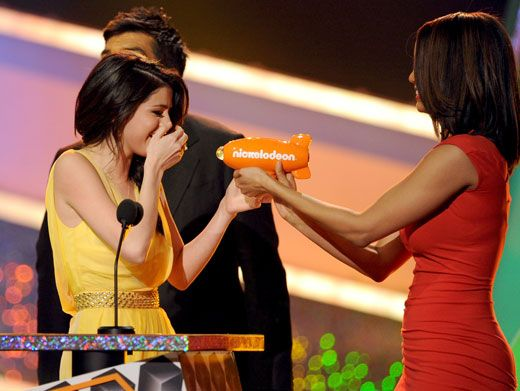 Blimpering Whimpering|Selena Gomez got all choked up when she won for Favorite TV Actress last year.
