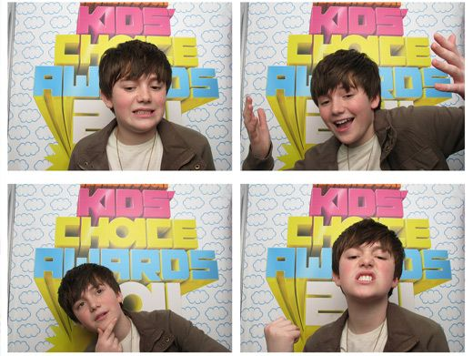 Gimme a Chance!|Greyson Chance looks so adorable in these photo booth pics we just wanna squeeze him!