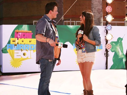 Happy Hosts|Noah Munck and Daniella Monet pal around while preparing to host the Countdown to the Kids' Choice Awards.