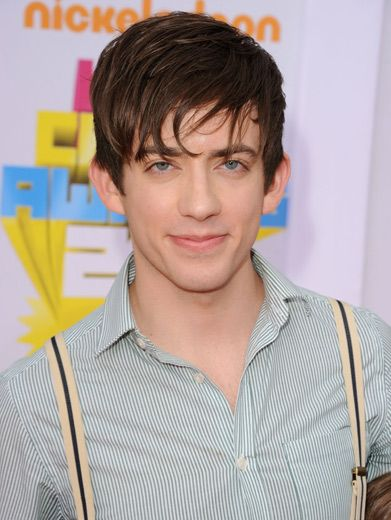 Gleeking Out!|We can hardly recognize Kevin McHale without his signature Glee glasses! So cute!