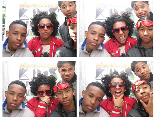 KCA 2012: Mindless Behavior|The fellas of Mindless Behavior seemed to have gotten the wrong memo by wearing all red. Good luck dodging the slime!!