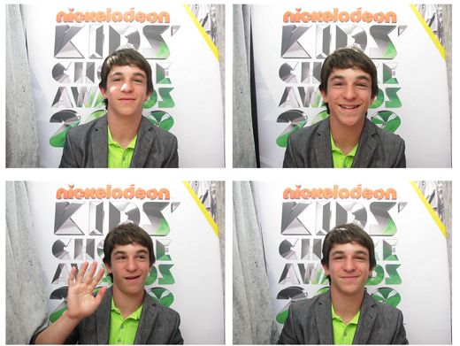 KCA 2012: Diary Of A Wimpy Kid|Zachary Gordon sports his slime pride in a lime green shirt - wear it proud!