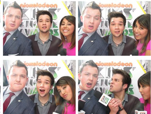KCA 2012: Three's Company|Noah Munck, Nathan Kress and Daniella Monet take a break from interviews to take a quick pic...say cheese guys!