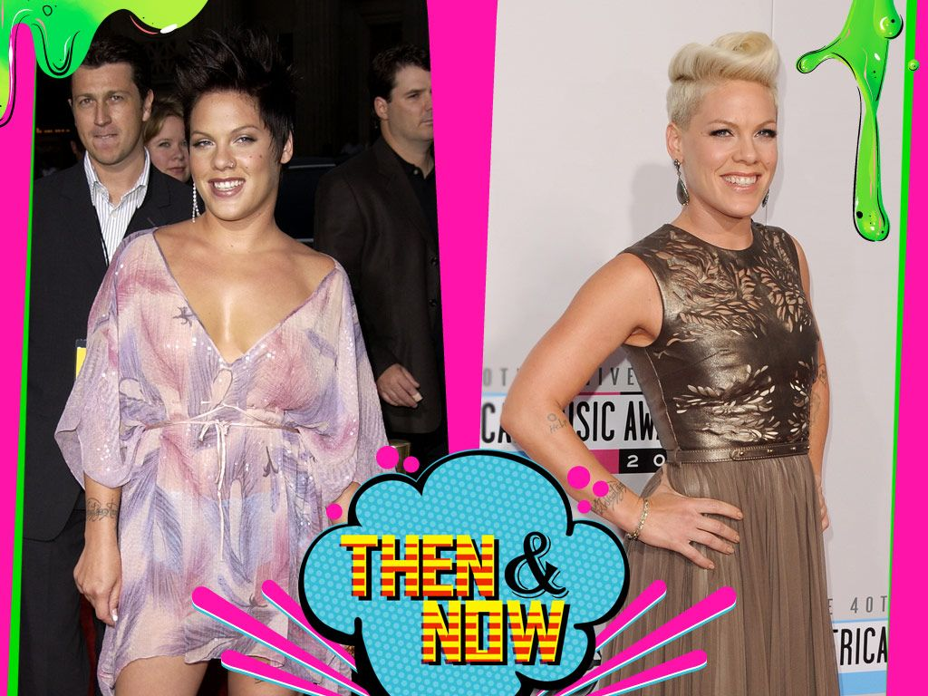 P!nk|P!nk wasn't always pink! She's retired her coral coif for blonde, and her hair isn't the only thing that's platinum.