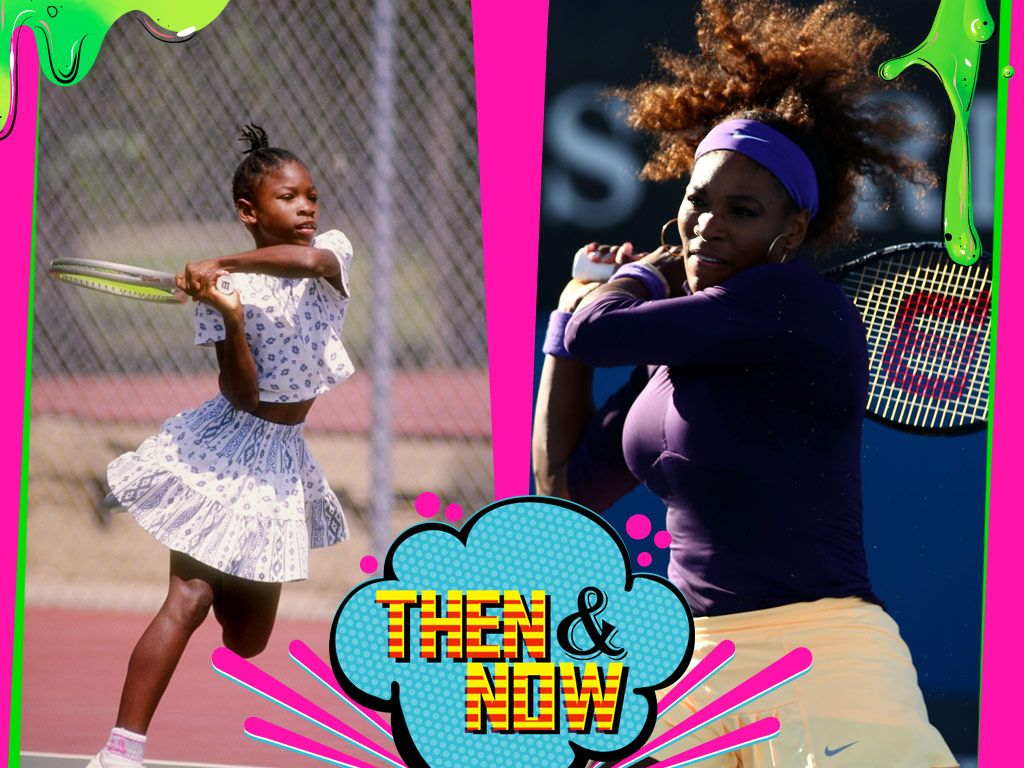 Serena Williams|SWOOSH! Looks like Serena has always had a racquet in her hands, but she might have to put it down to pick up a Blimp!
