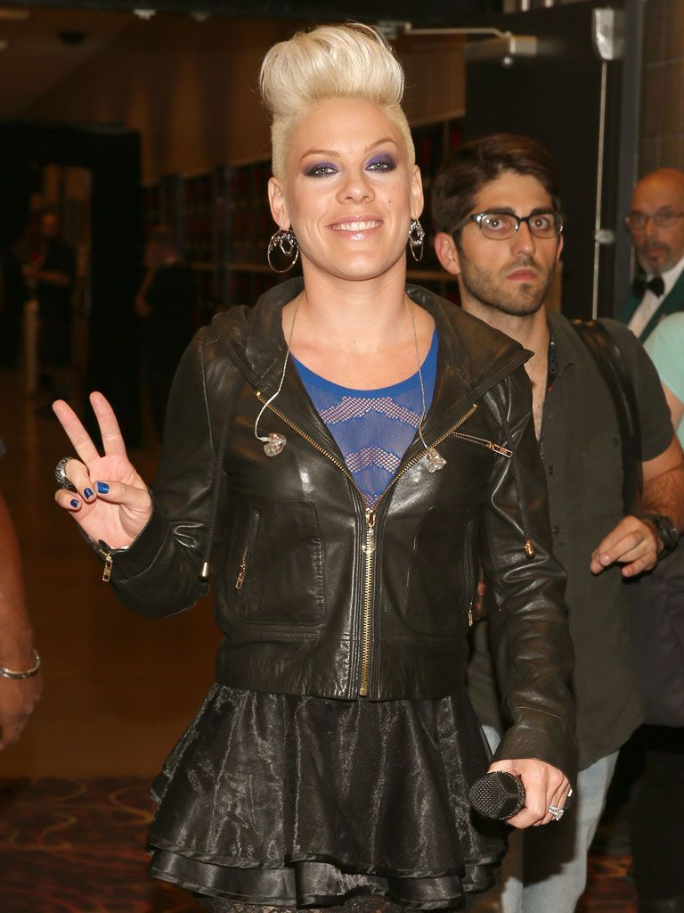 Steady Rockin'|P!nk's up for Favorite Female Singer at this year's KCAs, but until that happens, she'll be wishing lots of love and peace to all her fans!