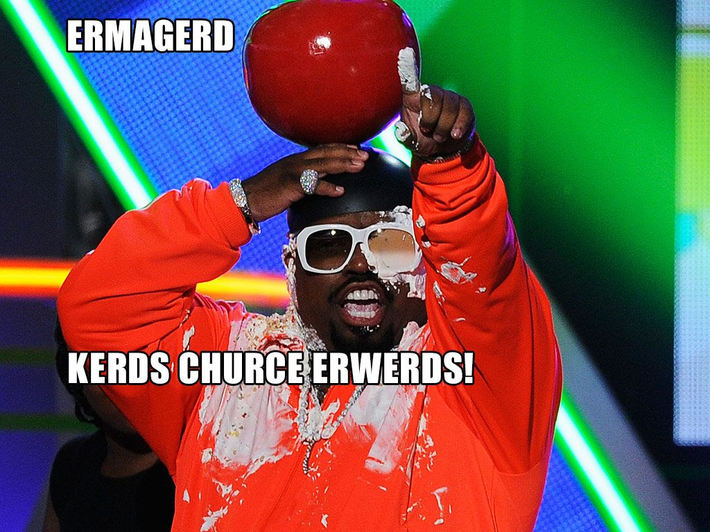 Ermagerd!|We don't think Cee Lo expected to get ice cream sundae-d!