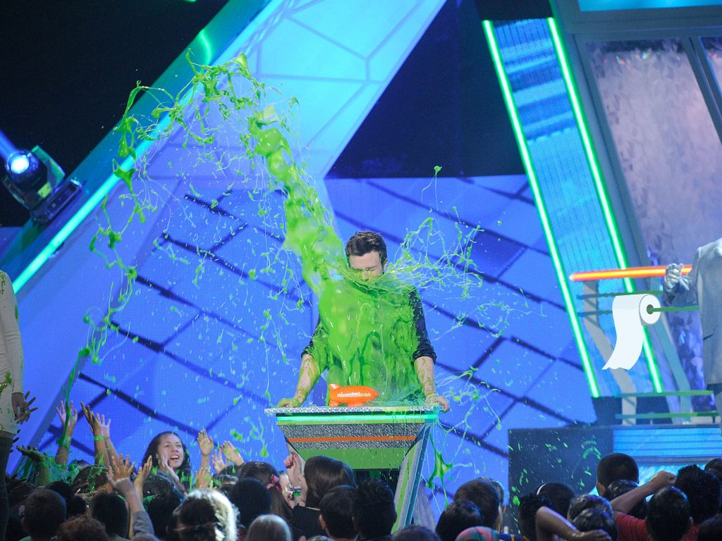 Splash Attack|If there was ever a perfect place to take a green gooey shower, this would definitely be it.