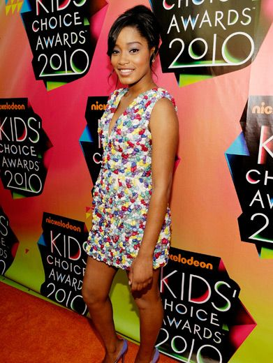 Keke Palmer|True Jackson star Keke Palmer turned heads with her electric dress, which, at first glance, appeared to be made of candy.