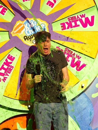 Wheel of Slime|Host Mike Myers (AKA Dr. Evil & the voice of Shrek) at the '04 KCAs.