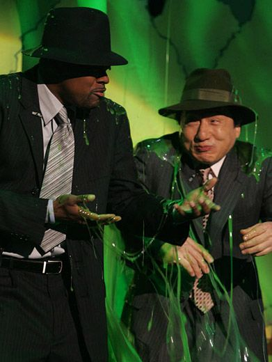Foiled again|Tucker and Chan got got with the green stuff at the '07 KCAs.