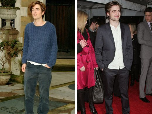 Robert Pattinson|Robert's gotten a little smoother since his Harry Potter days, but his signature hair is still floppily fantastic.