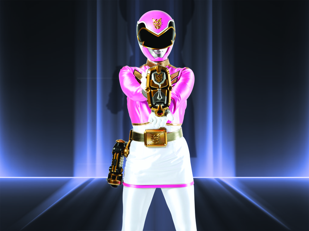 Megaforce Pink Ranger|Hey Earth-destroying aliens, nature-lover Emma Goodall isn't trying to hear any of your noise! This sensitive photographer is focused on saving the planet.