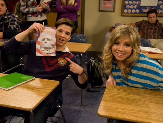 Making History|Jennette is all smiles while Nathan works his presidential pose.