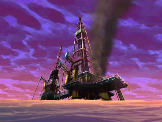 Environmentally Unfriendly|What's this? The Winx Club notices a dangerous looking oil rig right in the middle of the ocean!
